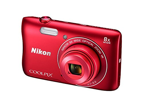 Nikon-Coolpix-S3700-201MP-Point-And-Shoot-Digital-Camera-Red-with-8x-Optical-Zoom