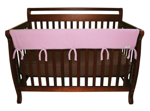 Trend-Lab-Fleece-CribWrap-Rail-Cover-for-Long-Rail-Pink-Wide-for-Crib-Rails-Measuring-up-to-18-Around