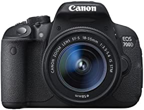 Canon EOS 700D Digital SLR Camera - (EF-S 18-55mm f/3.5-5.6 IS STM Lens, 18MP, CMOS Sensor) 3 inch LCD