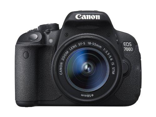 Canon EOS 700D Digital SLR Camera - (EF-S 18-55mm f/3.5-5.6 IS STM Lens, 18MP, CMOS Sensor) 3 inch LCD