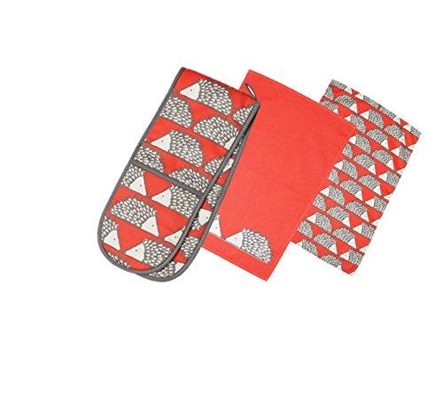 spike-the-hedgehog-print-tea-towels-double-oven-glove-set-red-charcoal-grey-white-hedgehog-print-kit