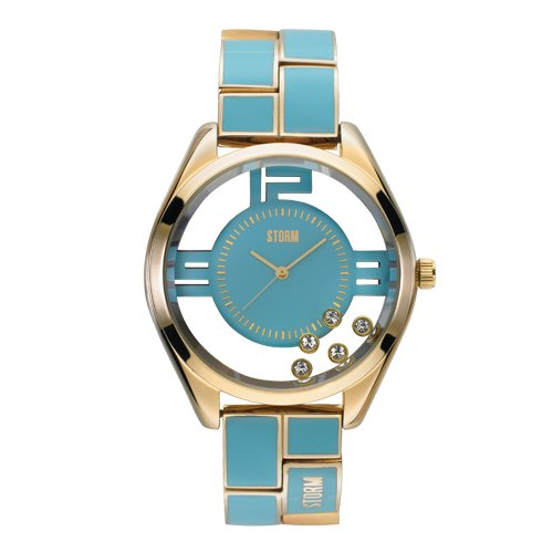Storm Ladies Pizaz Gold Aqua Watch 47042/GD/AQ