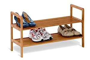 Honey-Can-Do Bamboo 2-Tier Shoe Shelf
