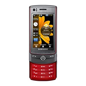 Samsung S8300 UltraTOUCH Handy (2.8'' Touchscreen AMOLED, 8 MP-Kamera, UMTS/HSDPA) platinum red