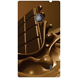 Nokia Lumia 520 Phone Cover-Love & Eat Matte Finish Phone Cover