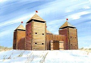 Zvezda Medieval Fortress (wooden) 1:72 - Model Kit Z8501