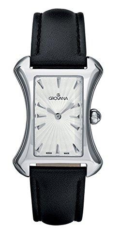 GROVANA - 4422.1532 - Montre Femme - Quartz Analogique - Bracelet Cuir Noir