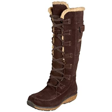 Timberland Women's 21632 Earthkeepers Grandby Tall Fleece Lined Boot,Dark Brown/Brown,5.5 W US