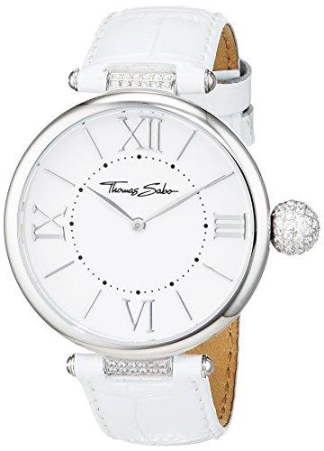 Thomas-Sabo-Damen-Armbanduhr-Glam-Soul-KARMA-Pav-White-Analog-Quarz-Leder-WA0258-215-202-38-mm