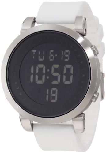 Vestal Men'S Ddds02 Digital Doppler Rubber White Watch