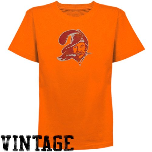 Reebok Tampa Bay Buccaneers Youth Retro Logo T-Shirt - Orange (Medium)