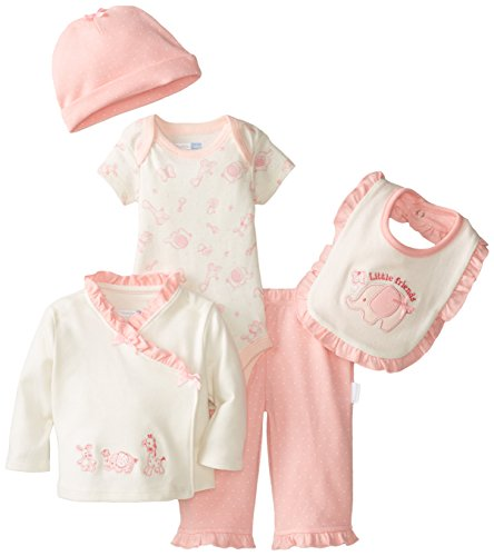 Vitamins Baby Baby-Girls Newborn Little Friends 7 Piece Gift Set, Pink, New Born back-842514