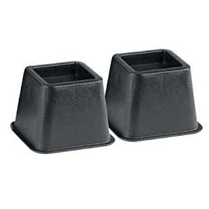 bed and chair risers one pair 4 inch health personal care. Black Bedroom Furniture Sets. Home Design Ideas