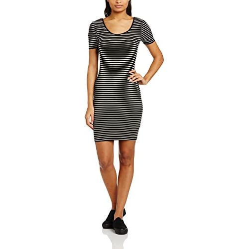 New Look Women's Stevie Stripe Short Sleeve Scoop Neck Bodycon Dress