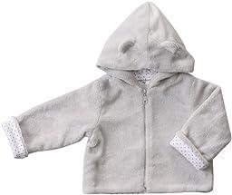 Angel Dear Unisex Baby Fuzzy Jacket (Baby)-Gray - 12-18 Months