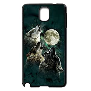 Amazon.com: Samsung Galaxy Note 3 Case,Cool Howling Wolf And Moon
