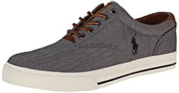 Polo Ralph Lauren Men\'s Vaughn Fashion Sneaker, Grey, 12 D US