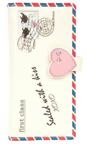 Shagwear portafoglio per giovani donne , Large Purse : (busta beige/ Letter)
