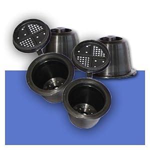4 CAPSULES RECHARGEABLES COMPATIBLES NESPRESSO COFFEEDUCK NOUVELLE GENERATION POUR MACHINE CITIZ & PIXIE