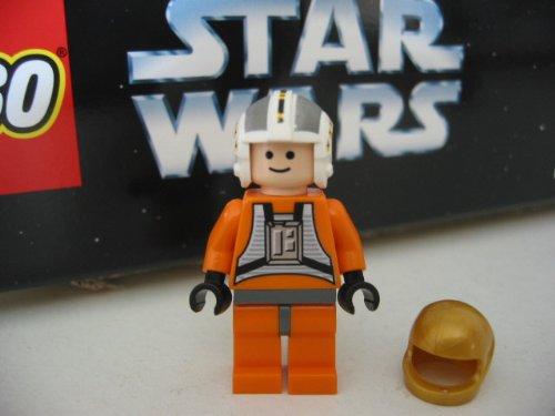 LEGO STAR WARS - Minifigur WEDGE ANTILLES aus Set 6212 + 1 HELM in GOLD
