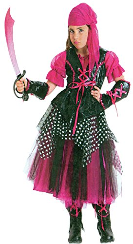 Girls Caribbean Pirate Kids Child Fancy Dress Party Halloween Costume