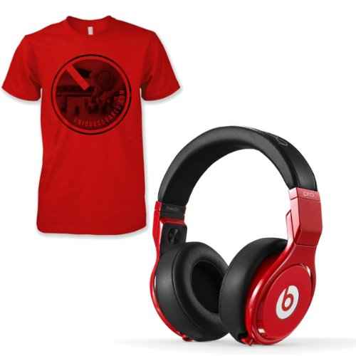 Beats Pro Over Ear Headphone Lil Wayne Red w/ UniqueSquared T-Shirt