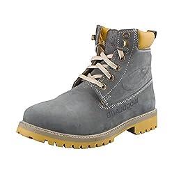 Woodland Men Gb 1276113 Grey-40 Nubuck Boots 6 UK
