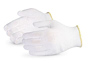 Superior S13PP Polypropylene Winter Glove Liner, Work, 13 Gauge Thickness, Small, White (Pack of 1 Dozen)