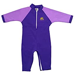 Fiji Sun Protective UPF 50+ Baby Swimsuit by Nozone in Purple / Lavender, 12-18 mo.