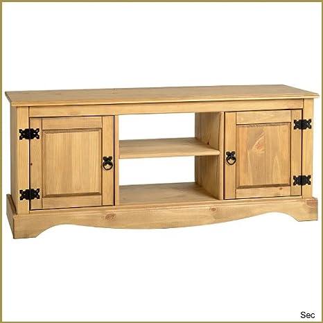 Corona Eckschrank, Mexikanische Kiefer, 2 Turig / 1 Einlegeboden / TV-Tisch Aus Holz