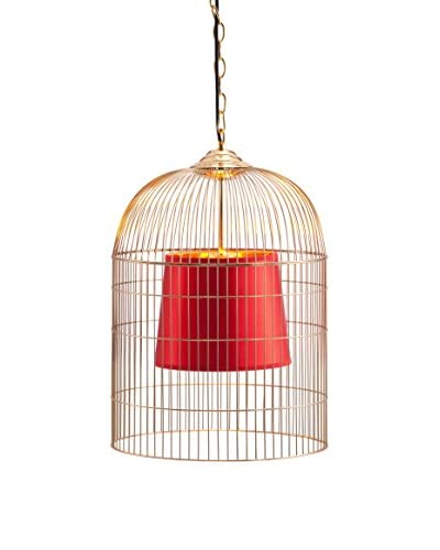 Zuo Small Sprite Ceiling Lamp, Gold & Red