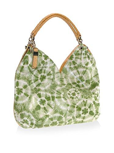 Buxton Women's Louisa Leather Hobo Bag, Green