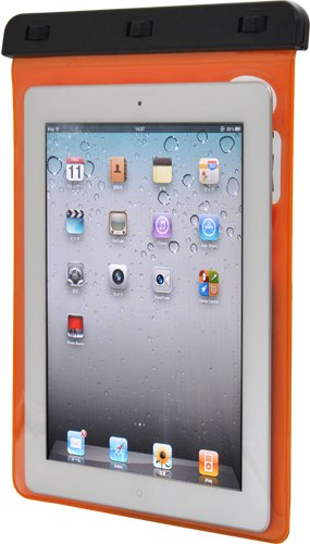 PLATA ( プラタ )  iPad iPad2 iPad3 ( 新しいipad ) iPad4 ( 第4世代 ) iPad retina 用 防水 ケース  オレンジ 橙 おれんじ orange  WM-746-02OR