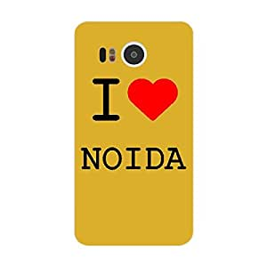 Skin4gadgets I love Noida Colour - White Phone Skin for GOOGLE NEXUS 5X