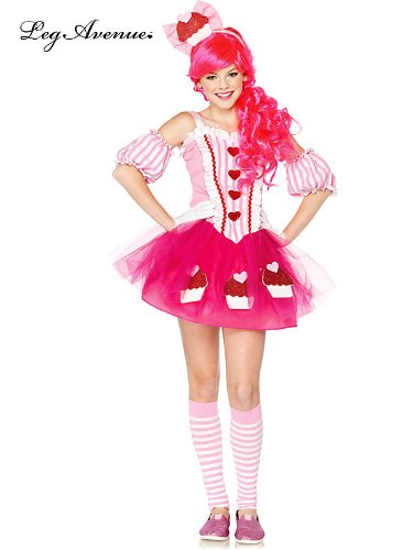 Tween 3 Piece Cupcake Sweetie Costume For Girls - Costume Ideas