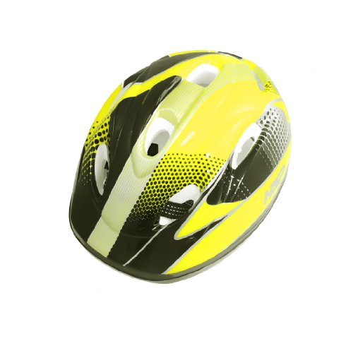 Como Children Adjustable Strap Yellow Striped 8 Vents Bicycle Cycling Helmet