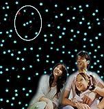 【オリオン座】 NEW ♪♪ 星 に包まれて ♪♪ 光 る 蓄光 蛍光 夜光 星型 シール 計206枚 !! お星さま に囲まれて 寝るのが楽しみ ♪♪ + オリオン座 テンプレート + 1等星ベテルギウス + ミニ蓄光体5個 全5点セット ! 星座 の 勉強 ♪