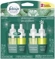 Febreze Noticeables Limited Edition Holiday Scented Oil Refills 2/Pk ~ Glistening Alpine / Apple Spice ~ (Quantity 1)