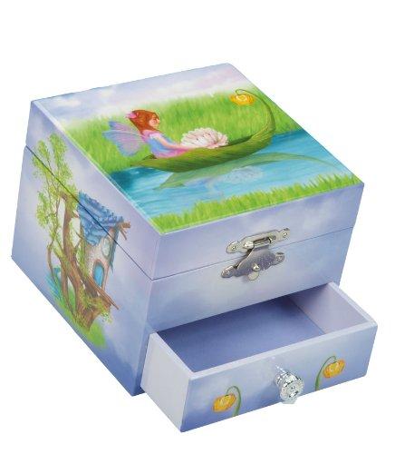 MusicBox Kingdom 22108 Musical Jewelry Box Fairy, Playing