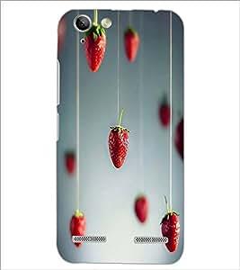 PrintDhaba Strawberries D-1754 Back Case Cover for LENOVO LEMON 3 (Multi-Coloured)