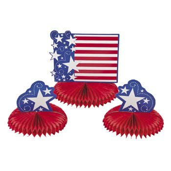 Patriotic Tissue Centerpiece Set - Tableware & Centerpieces - 1