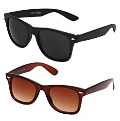 Mayatras Wayfarer Combo Sunglasses (Black Brown) (M36)