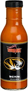 Tailgate University of Missouri Medium Wing Sauce, 12-Ounce Glass Bottles (Pack of 6) by Tailgate