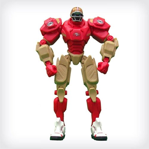 "San Francisco 49ers 10"" Team Cleatus FOX Robot NFL Football Action Figure Version 2.0 at Amazon.com"