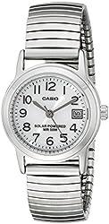 Casio Women's LTP-S100E-7BVCF Easy-To-Read Solar Stainless Steel Watch