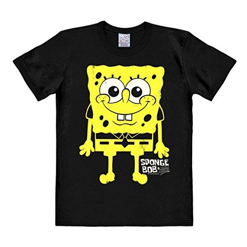 Camiseta-Bob-Esponja-Estoy-Listo-Estoy-Listo-Estoy-Listo-Camiseta-Spongebob-Squarepants-Im-ready-Im-ready-Camiseta-con-cuello-redondo-de-LOGOSHIRT-Negro-Diseo-original-con-licencia