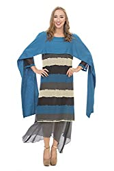 Rinku Sobti Women's Tunic (JUNA7_Blue_Small)