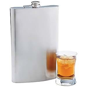 Maxam Jumbo Stainless Steel Flask, 64 oz