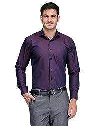 Harvest Purple 100 % Cotton Party Wear Shirt for Men