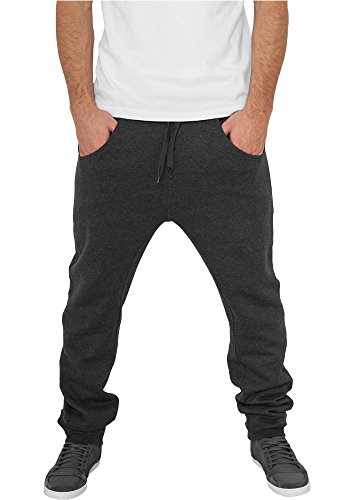 Urban Classics TB504 Deep Crotch Sweatpant Pantalone Tuta Uomo Regular Fit Charcoal